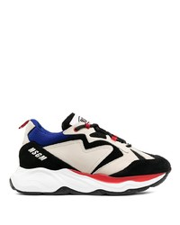 MSGM Contrast Panel Low Top Sneakers