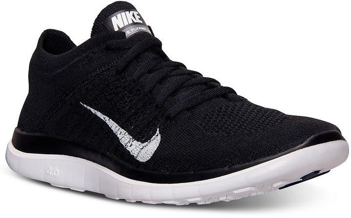 ... Black and White Athletic Shoes Nike Free Flyknit 40 Running Sneakers  From Finish Line ... 0401fe1b15