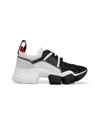 Givenchy Jaw Mesh And Med Leather Neoprene And Rubber Sneakers