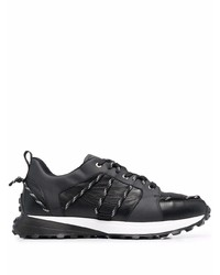 Canali Lace Up Detail Low Top Sneakers