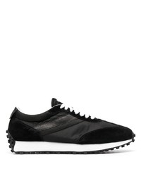Doucal's Leather Trim Low Top Sneakers