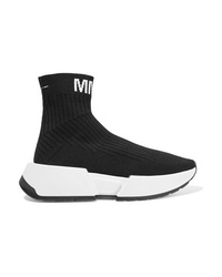 MM6 MAISON MARGIELA Logo Jacquard Ribbed Stretch Knit Sneakers
