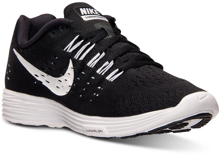 separation shoes 0c205 264c5 switzerland black and white athletic shoes nike lunartempo running sneakers  from finish line c77fb 98abe