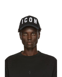 DSQUARED2 Black And White Icon Cap