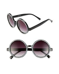 Black and White Beaded Sunglasses
