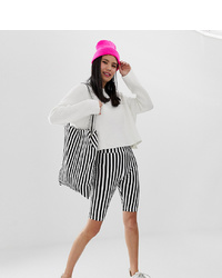 Black and White Bike Shorts