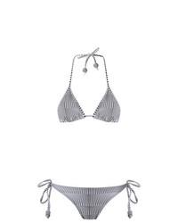 Amir Slama Striped Triangle Bikini Set