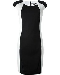DKNY Contrast Panel Bodycon Dress