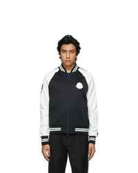 Moncler Black And White Maglia Cardigan