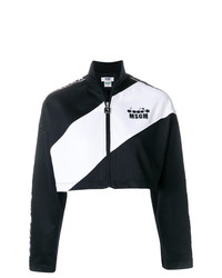 MSGM Cropped Two Tone Jacket