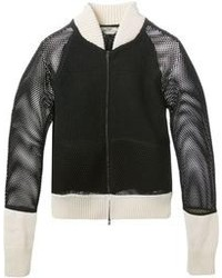 Fendi Mesh Panel Bomber Jacket