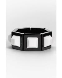 Adia Kibur Stretch Bracelet Black W White Center