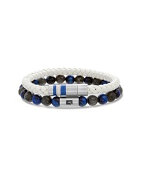 Ben Sherman Leather Bead Bracelet Set