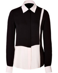 Salvatore Ferragamo Silk Colorblock Blouse