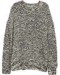 Knit sweater blackstriped ladies medium 351899
