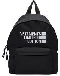 Vetements Black Limited Edition Backpack