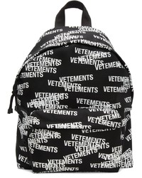 Vetements Black White Logo Stamp Backpack