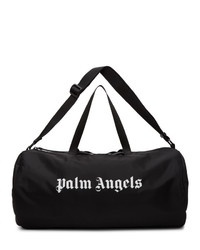 Palm Angels Black Logo Gym Duffle Bag