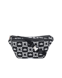 Black and White Canvas Fanny Pack