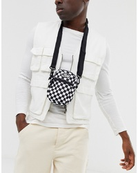 Vans Checkerboard Flight Bag In Black