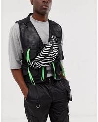 ASOS DESIGN Cross Body Bum Bag In Zebra Print