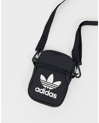 adidas Originals Flight Bag With Trefoil Logo In Black