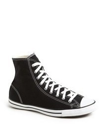 Black and White Canvas High Top Sneakers