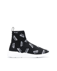 Moschino All Over Sock Hi Tops