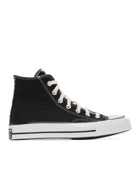 Converse Black And Grey Reconstructed Chuck 70 High Sneakers