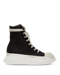 Rick Owens DRKSHDW Black And White Abstract High Top Sneakers