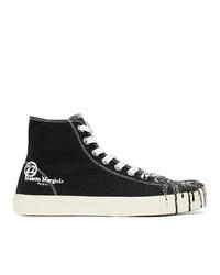 Maison Margiela Black Canvas Pollock Tabi High Top Sneakers
