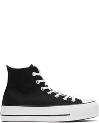Converse Black Chuck Taylor Lift Platform High Sneakers