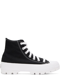 Converse Black Chuck Taylor Lugged High Sneakers