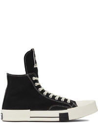 Rick Owens DRKSHDW Black Converse Edition Turbodrk Chuck 70 High Sneakers