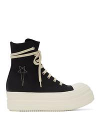 Rick Owens DRKSHDW Black Double Bumper Sneakers