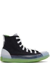 Converse Black Grey Dramatic Nights Cx Hi Sneakers