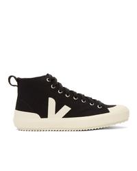 Veja Black High Top Nova Sneakers