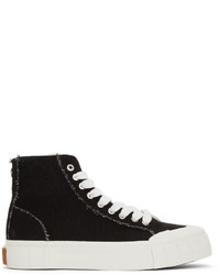 Good News Black Off White Seasonal Palm High Sneakers