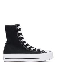Converse Black Platform Chuck Taylor High Sneakers