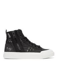 Diesel Black S Astico Denim Sneakers