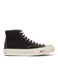 VISVIM Black Skagway High Top Sneakers