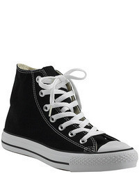 Chuck taylor lace black canvas hi top sneaker medium 71444