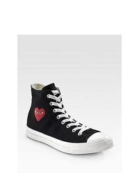 Comme des Garcons High Top Canvas Sneakers