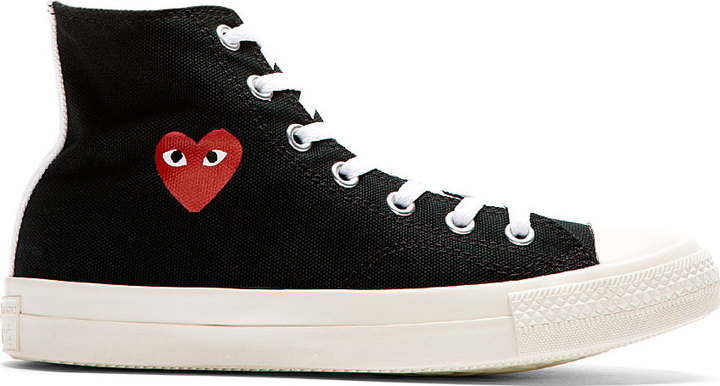 Comme Des Garcons Garons Play Black Heart Logo Converse Edition High Top Sneakers
