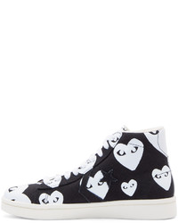 837f298ab97b ... Comme des Garcons Comme Des Garons Play Black Heart Print Converse  Edition High Top Sneakers ...