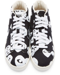e0f5a7bb177c ... Comme des Garcons Comme Des Garons Play Black Heart Print Converse  Edition High Top Sneakers