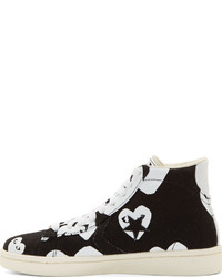 8709bd6c924010 ... Comme des Garcons Comme Des Garons Play Black White Heart Print  Converse Edition High Top Sneakers