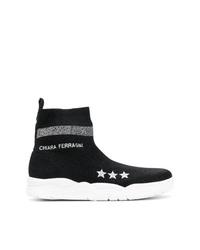 Chiara Ferragni Logo Sock Boots
