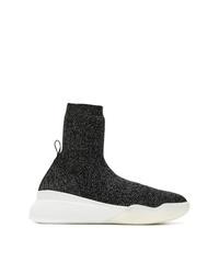 Stella McCartney Metallic Knit Sock Sneakers