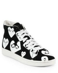 Comme des Garcons Play Canvas High Top Sneakers